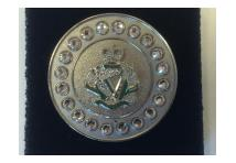 Brooch Gem- Royal Irish Regiment - White Stones