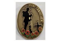 Lapel Badge -Lest We Forget Soldier Poppy