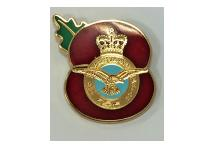 Lapel Badge - Poppy RAF