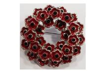 Lapel Badge - Poppy Wreath