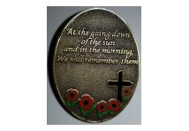 Lapel Badge - At The Going Down Of The Sun