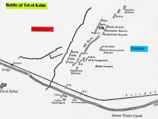 Map of Tel-el-Kebir