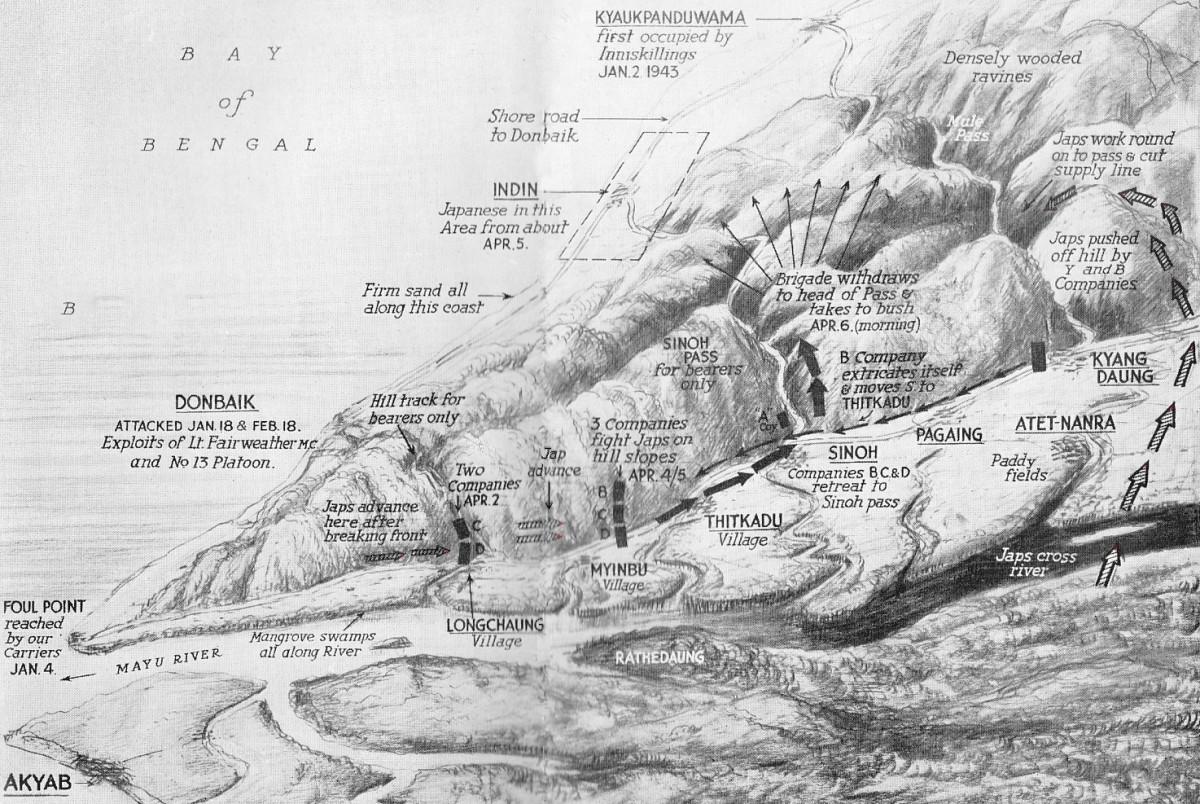 Map Mayu Arakan 1943
